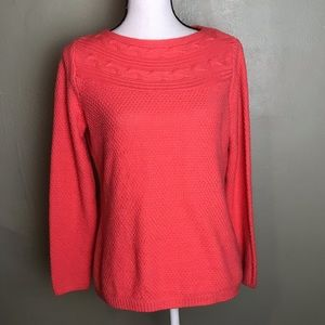 Croft & Barrow Knitted Sweater Top Size S